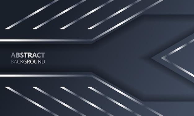 Fundo de tecnologia de layout de quadro abstrato prata metálico escuro