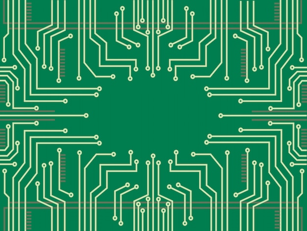 Fundo de tecnologia de linha de microchip