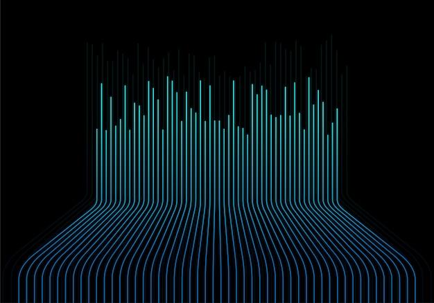 Fundo de tecnologia de linha de onda de conexão abstrata