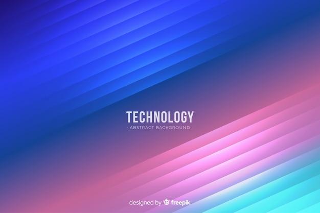 Fundo de tecnologia de luzes de néon realista