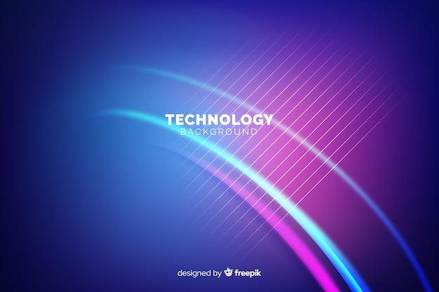 Fundo de tecnologia de luzes de néon