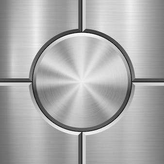 Fundo de tecnologia de metal com textura escovada
