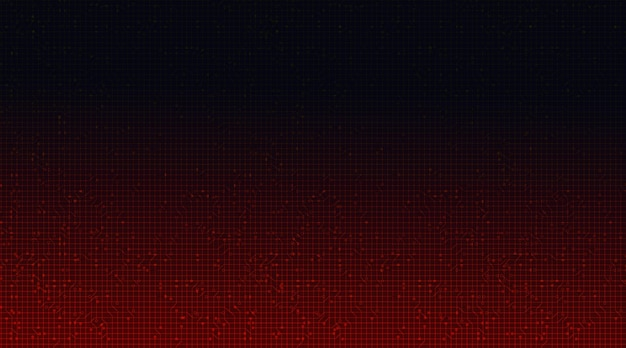 Fundo de tecnologia de microchip de circuito vermelho.