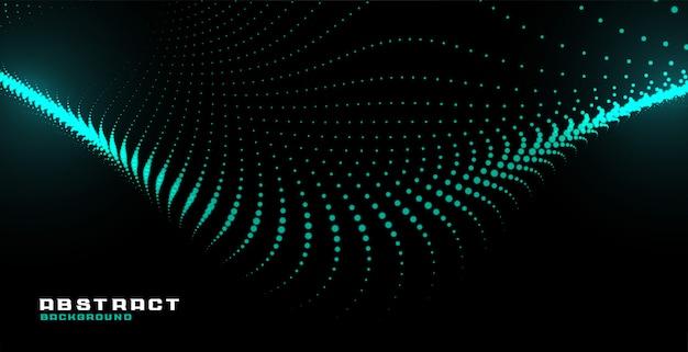 Fundo de tecnologia de onda abstrata brilhante partícula