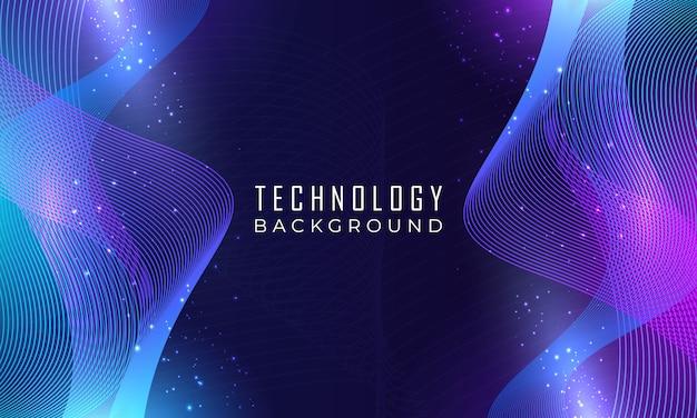 Fundo de tecnologia de onda moderna