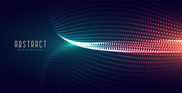Fundo de tecnologia de partículas brilhantes digitais brilhantes