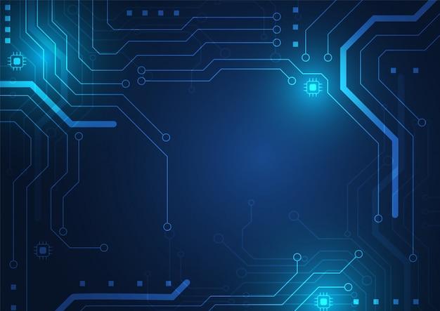 Fundo de tecnologia de placa de circuito