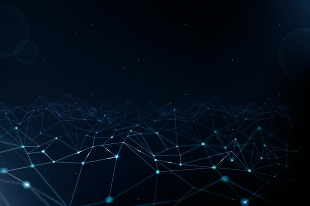 Fundo de tecnologia de rede 5g com linha digital azul