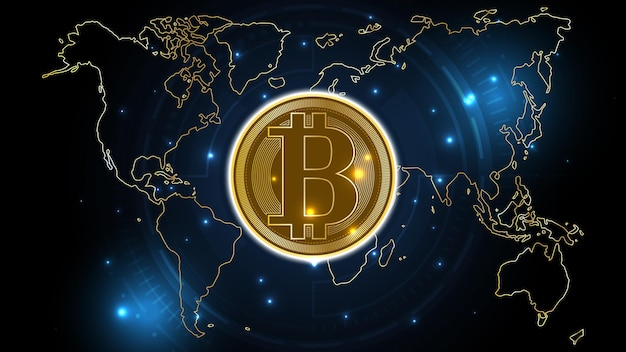 Fundo de tecnologia de rede de dinheiro digital de criptomoeda bitcoin