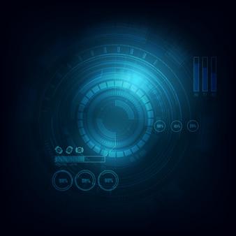 Fundo de tecnologia de telecomunicações de círculo eletrônico