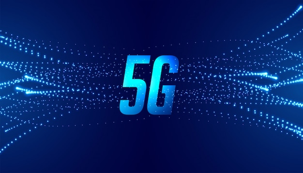 Fundo de tecnologia de telecomunicações de velocidade 5g quinta velocidade rápida