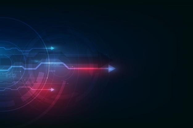 Fundo de tecnologia de velocidade abstrata