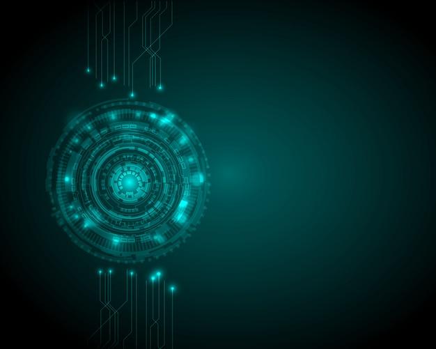 Fundo de tecnologia digital abstrata círculo