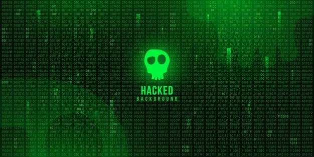 Fundo de tecnologia digital com código binário, segurança ciberespaço
