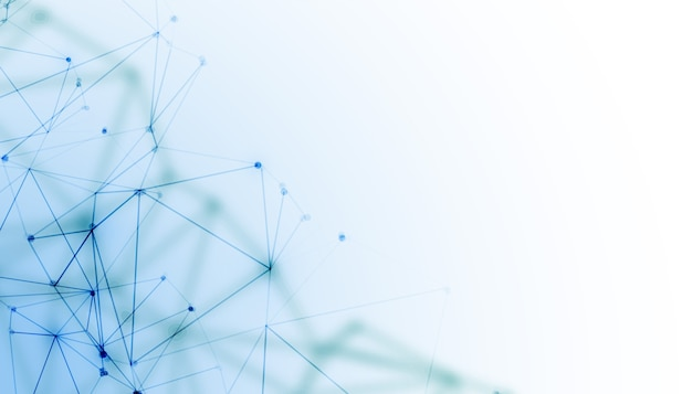 Fundo de tecnologia digital de fio de rede
