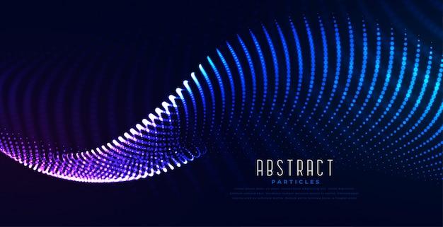 Fundo de tecnologia digital de onda digital brilhante de partículas