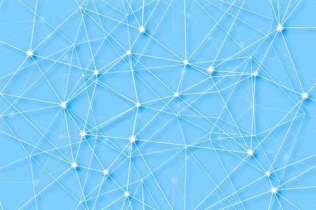 Fundo de tecnologia digital de polígono de linhas de conexão