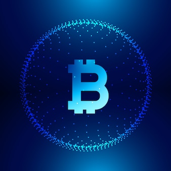 Fundo de tecnologia digital para símbolo de bitcoins de internet