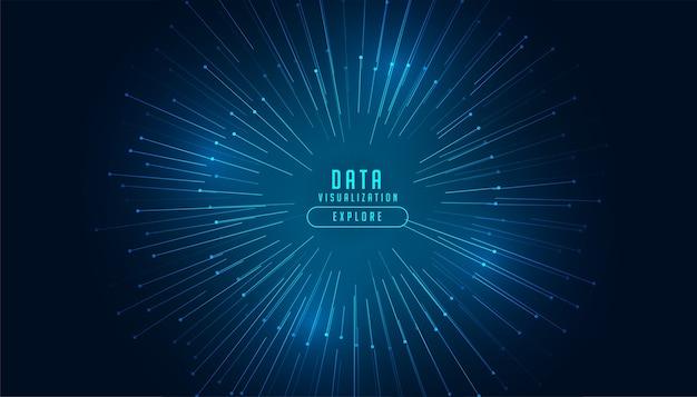 Fundo de tecnologia do conceito de visualização de dados
