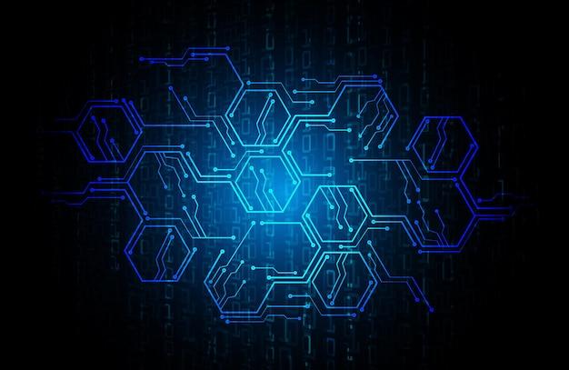 Fundo de tecnologia do futuro do circuito cibernético