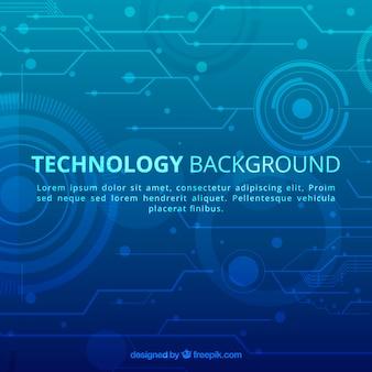 Fundo de tecnologia em estilo abstrato
