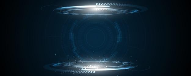Fundo de tecnologia fundo abstrato de inovação de conceito de comunicação de alta tecnologia