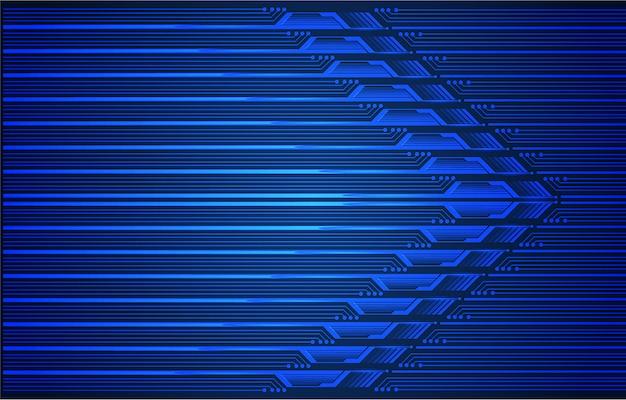 Fundo de tecnologia futura cyber seta azul