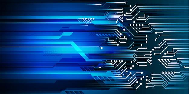 Fundo de tecnologia futura do circuito azul cibernético