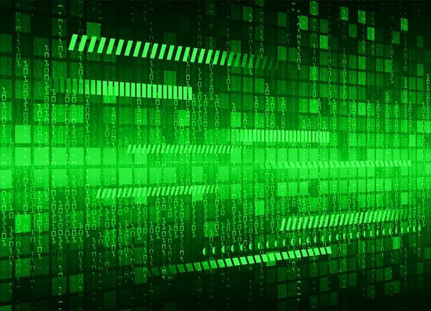 Fundo de tecnologia futura do circuito cibernético verde