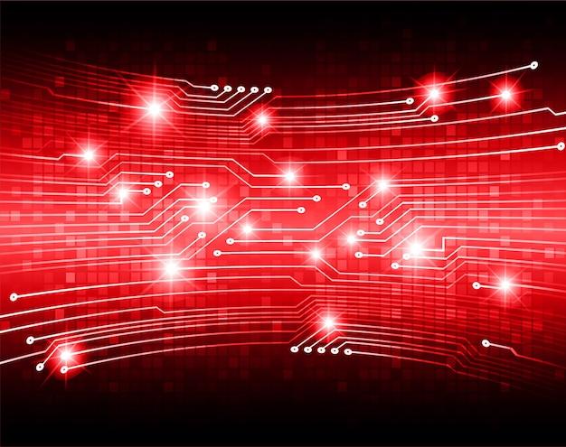 Fundo de tecnologia futura do circuito vermelho cibernético