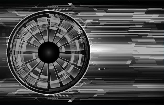 Fundo de tecnologia futura do olho cibernético circuito