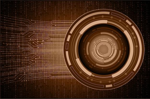 Fundo de tecnologia futura do olho marrom cyber circuito