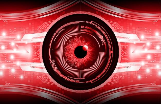 Fundo de tecnologia futura do olho vermelho cyber circuito