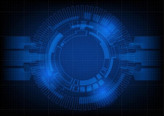 Fundo de tecnologia futurista abstrata círculo