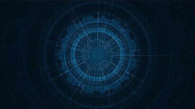 Fundo de tecnologia futurista de ficção científica