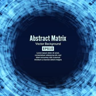Fundo de tecnologia futurista de matriz abstrata de ficção científica