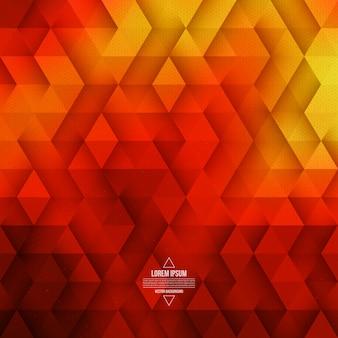Fundo de tecnologia geométrica abstrata vector vermelho