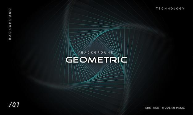 Fundo de tecnologia geométrica moderna