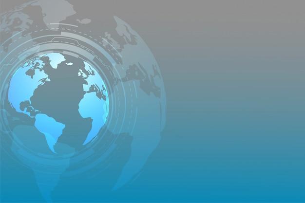 Fundo de tecnologia global com espaço de texto