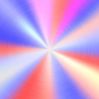 Fundo de tecnologia gradiente de cor abstrata de metal com textura concêntrica polida circular