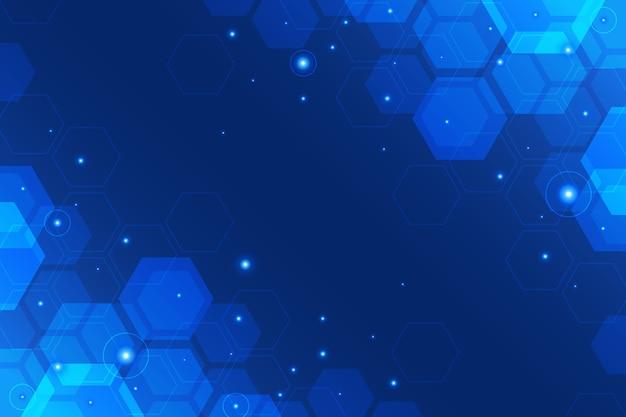 Fundo de tecnologia hexagonal