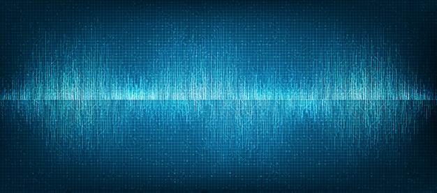 Fundo de tecnologia mini digital sound wave