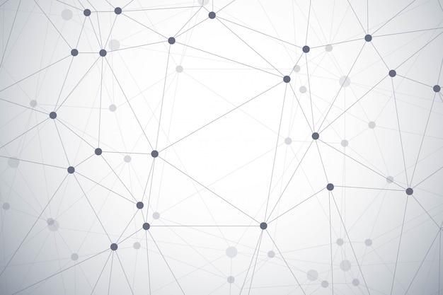 Fundo de tecnologia moderna polígono