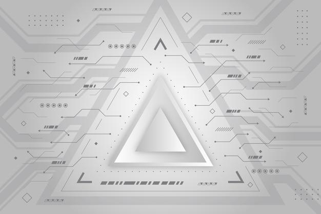 Fundo de tecnologia moderna triângulo branco