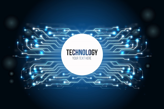 Fundo de tecnologia moderna