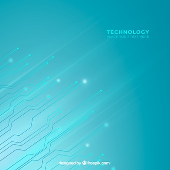 Fundo de tecnologia na cor azul