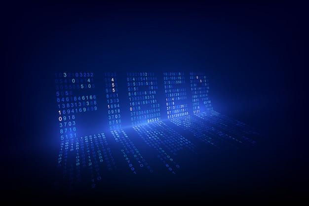 Fundo de tecnologia óptica de firber