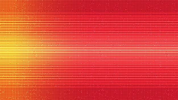 Fundo de tecnologia red speed, conceito digital e de internet