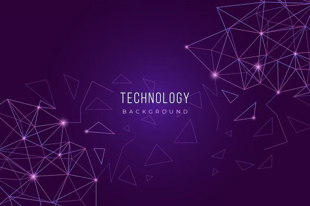 Fundo de tecnologia roxa