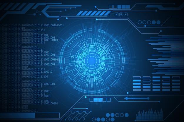 Fundo de tecnologia vector com a informação atualizada.
